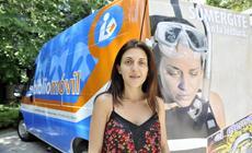 """La Actriz Lola Berthet en el lanzamiento de la campaña """"Sumergite en la Lectura """"."""